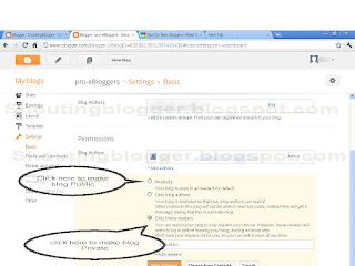 blogger blog private