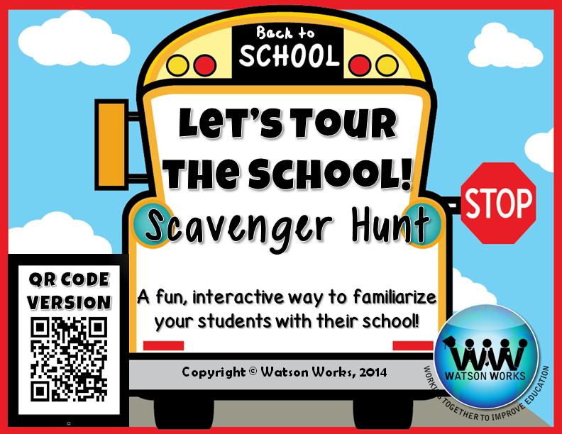 http://www.teacherspayteachers.com/Product/Lets-Tour-the-School-Scavenger-Hunt-A-Back-to-School-Activity-w-QR-Codes-1326930
