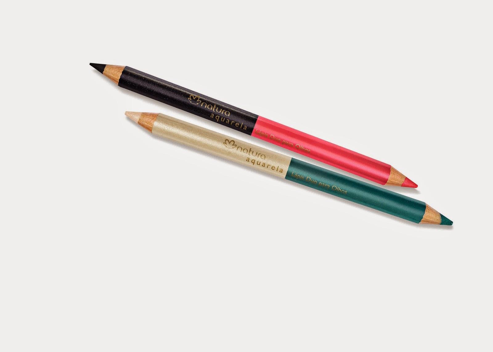 natura, aquarela, lápis duo, olhos