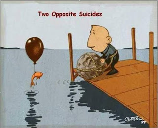 Two Opposite Suicides