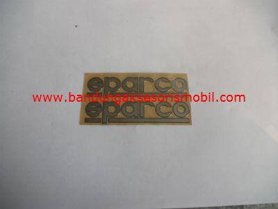 Emblem Alumunium 3M Kecil 2 Pcs Sparco