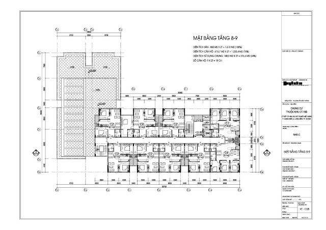Mặt bằng tầng 8-9 tòa C chung cư Valencia Garden