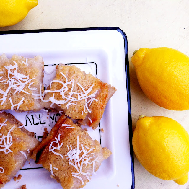 Simply Raw Life: LEMON-COCONUT TOFU BARS