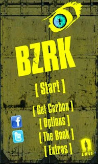 Screenshots of the BZRK for Android tablet, phone.