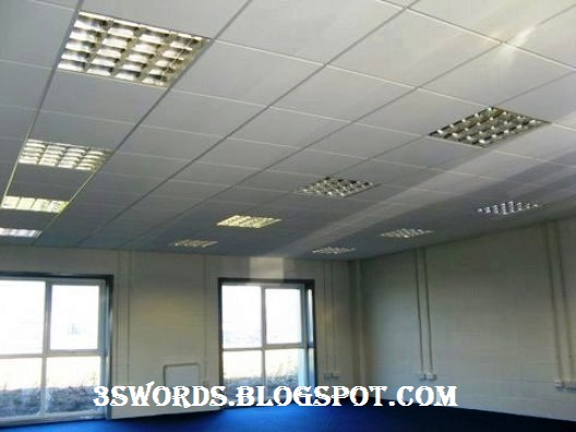 Gypsum Board Suspended Ceiling System : Suspended ceiling solution to lighting