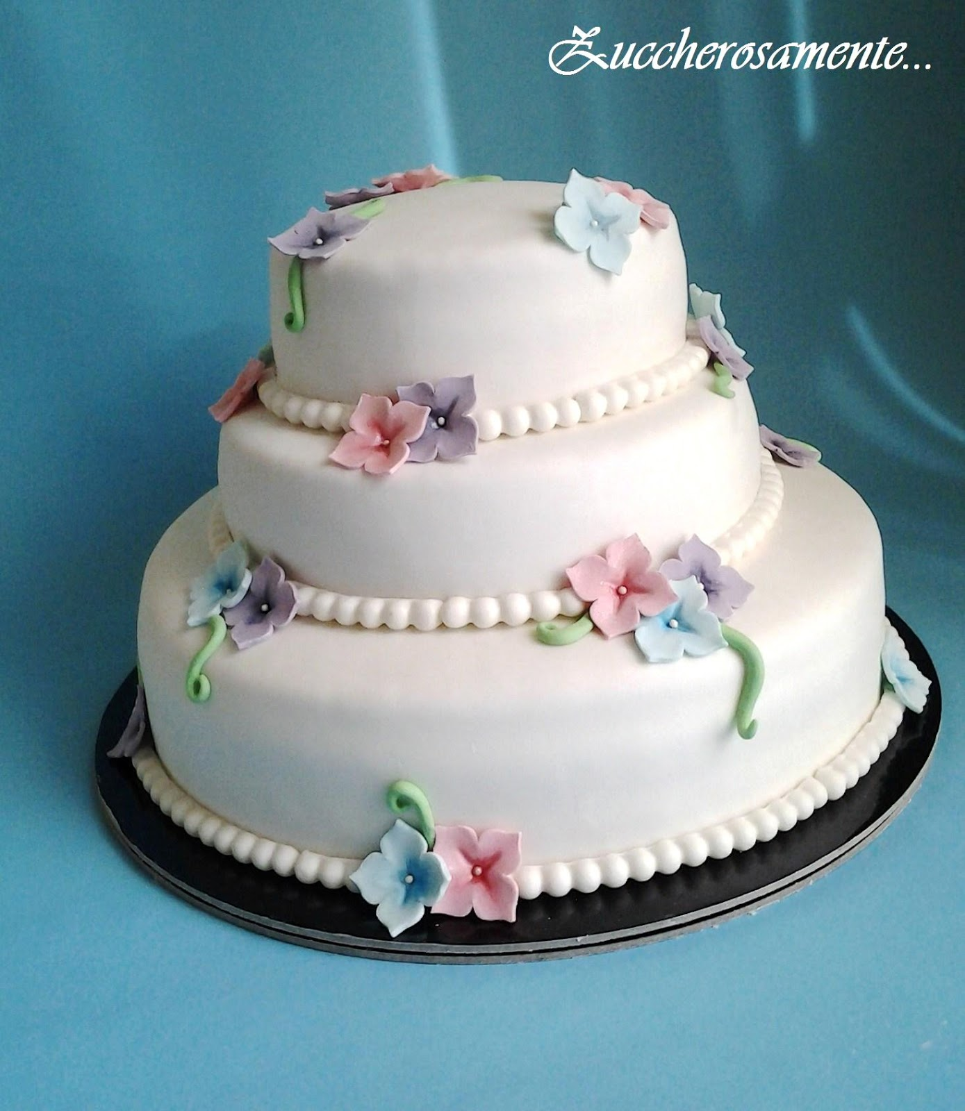 Estremamente Zuccherosamente: Torta cresima romantica per Beatrice UB52