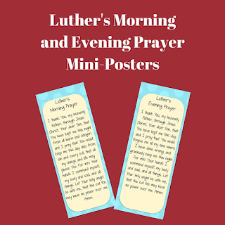 Luther's Morning Prayer Luther's Evening Prayer