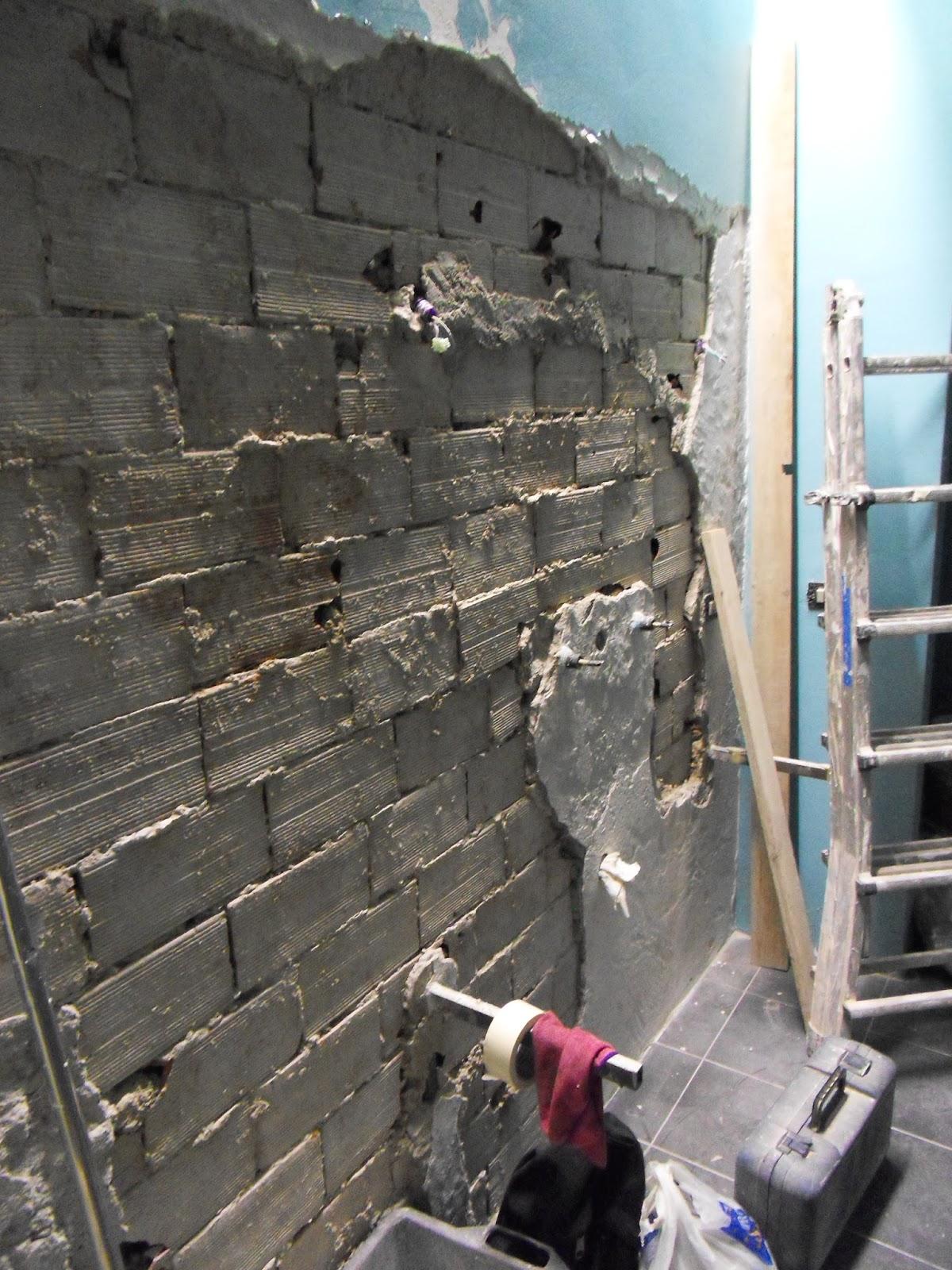 Appunti di architettura risistemazione del bagno con for Intonaco rustico