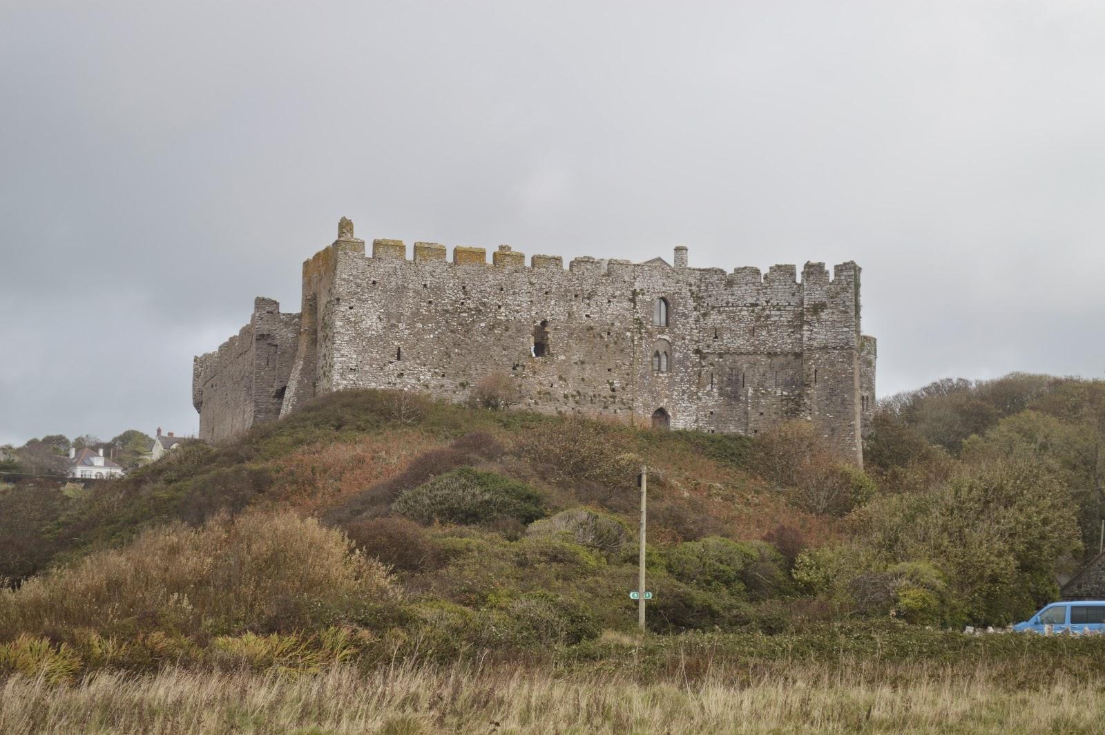 Manorbier Castle Pembrokeshire Wales