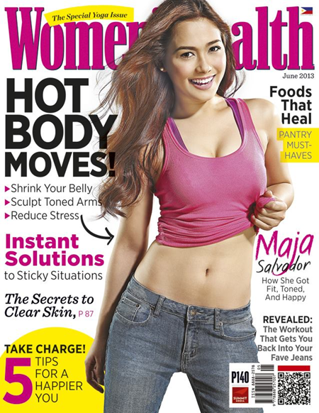 Maja Salvador Covers Women's Health June 2013 issue