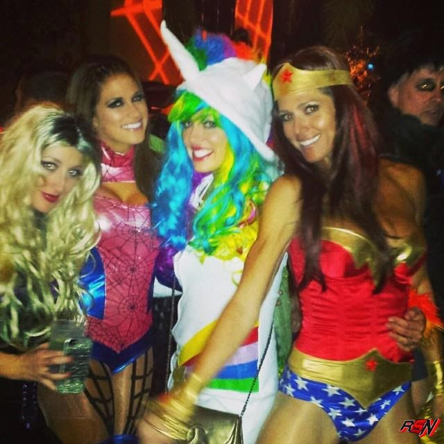 Torrie Wilson At a Halloween Party Friday Night.