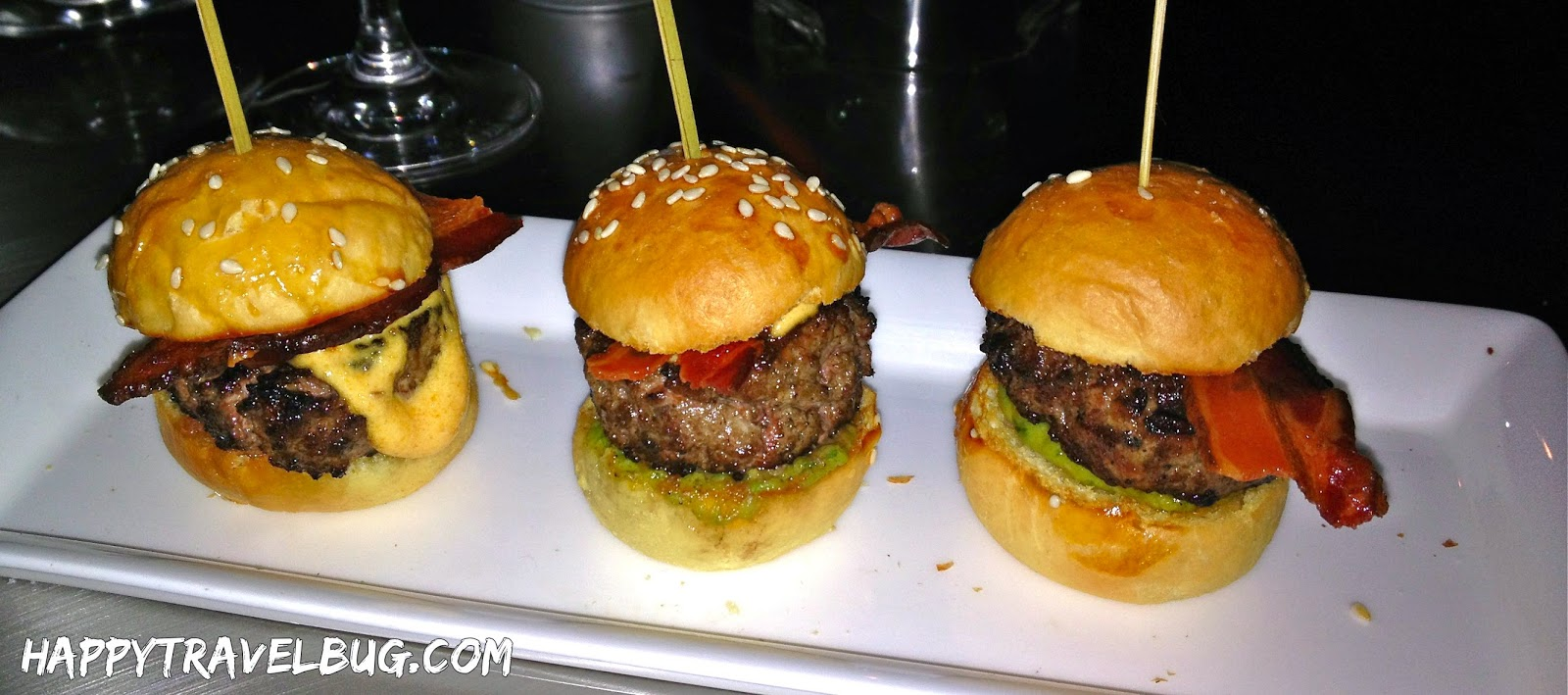 Sirloin sliders at Aureole in Las Vegas