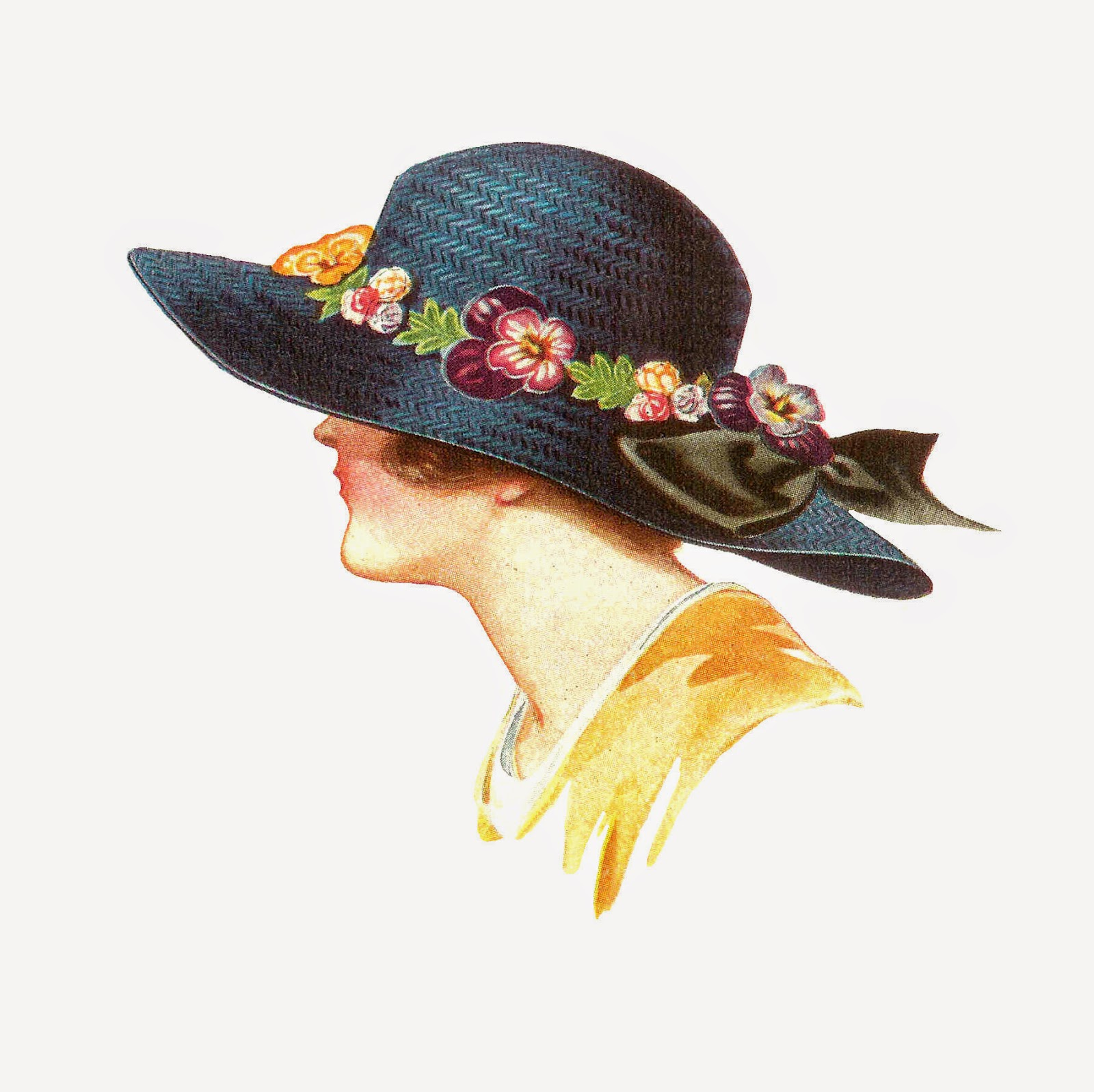 vintage hat clipart - photo #11