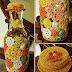 Idea: Más decoraciones tejidas en frascos! :)