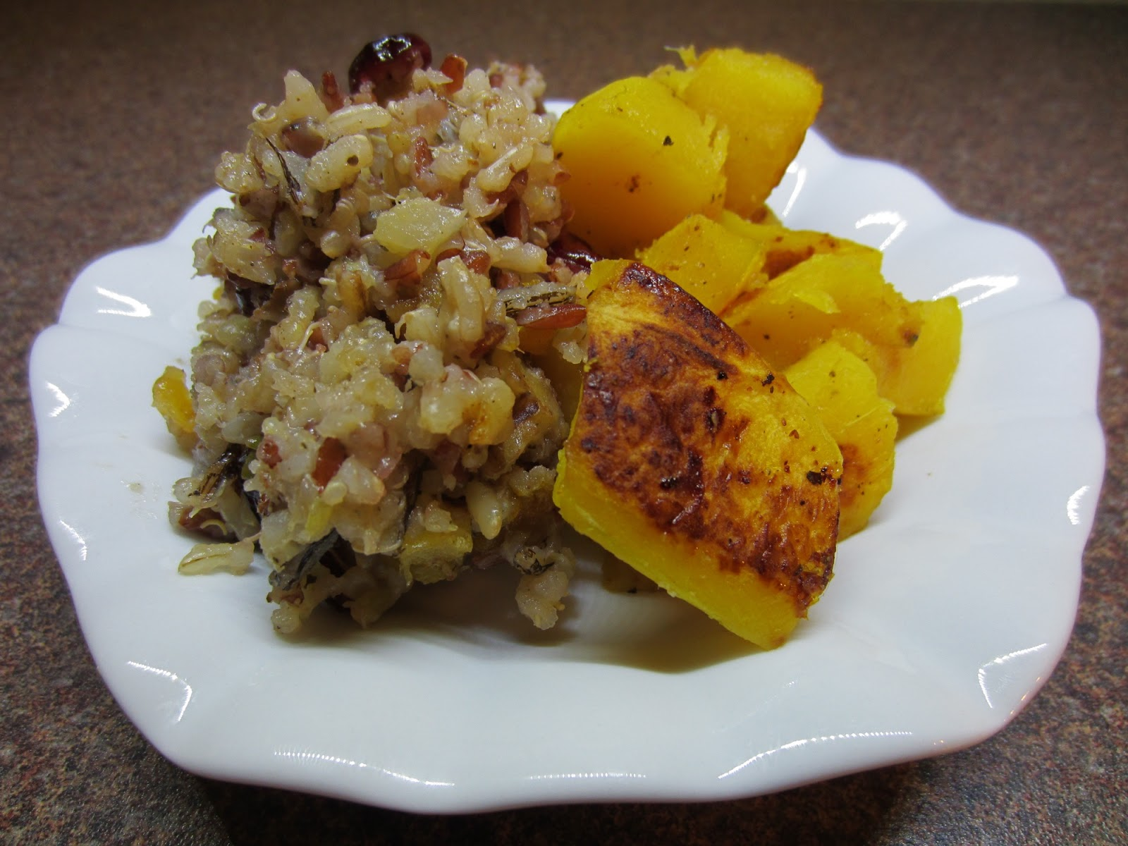 Trobairitz' Table d'hote: Quinoa and Wild Rice Stuffed Squash