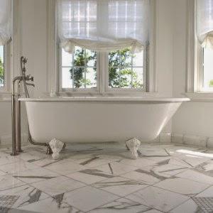 Roman blinds in bathroom