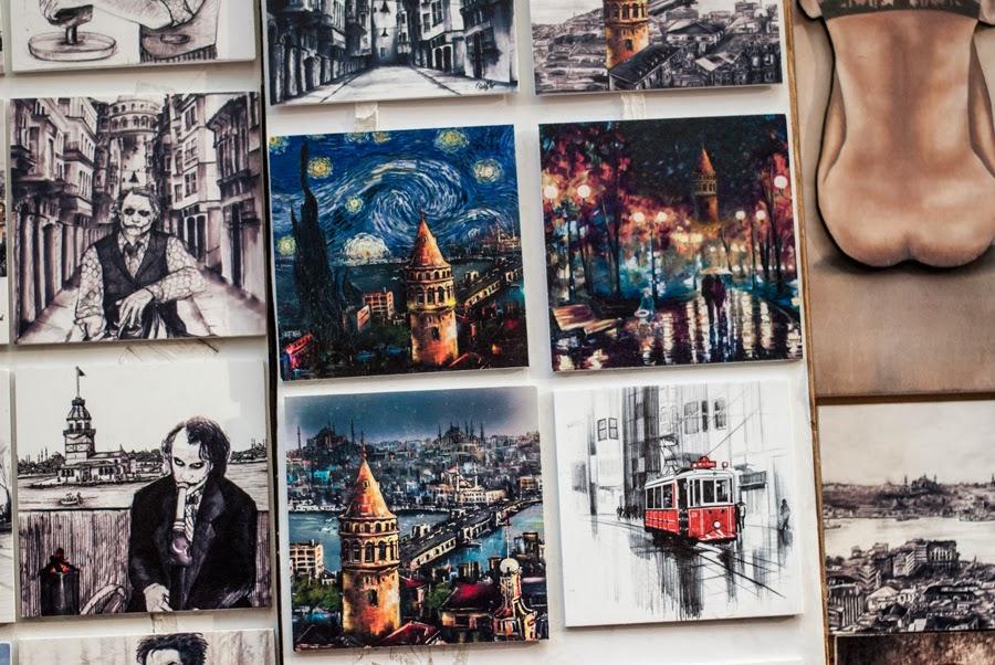 travels, istanbul, turkey, taksim, paintings, modern art