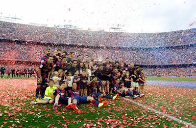 Klasemen akhir liga Spanyol dan Top skor terbanyak musim 2014-2015