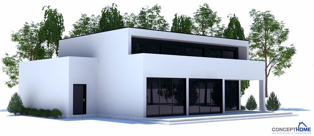 Plantas de casas modernas planta de casa moderna ch206 for Plantas de casas tipo 3 modernas