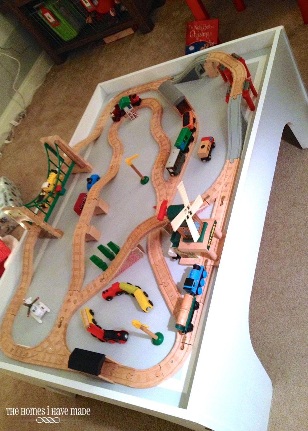 Wooden Christmas Train