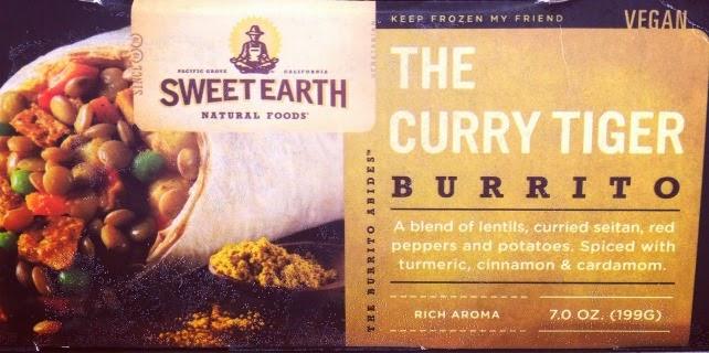 Vegetarian Vegan Frozen Food at Target Sweet Earth The Curry Tiger Vegan Burrito