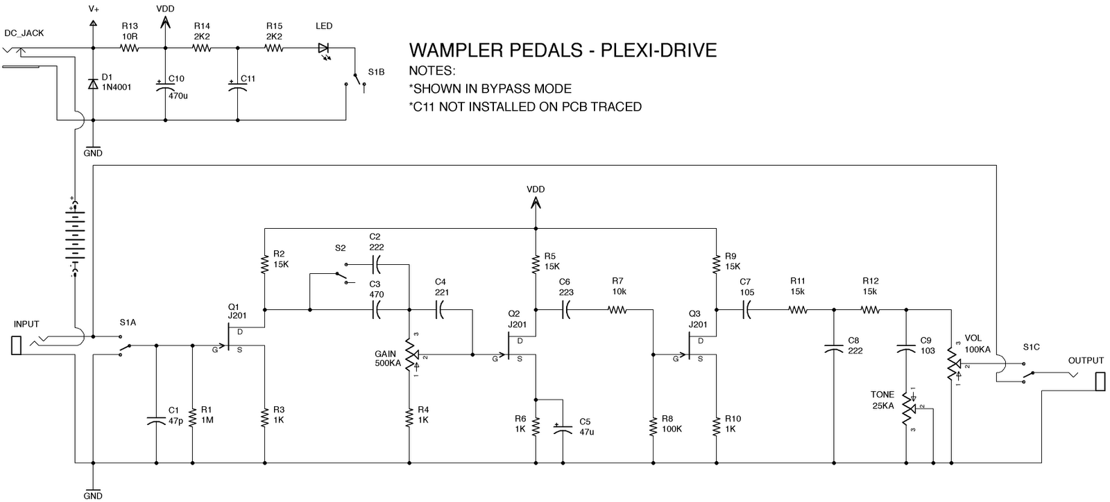 Ibanez   Schematic also Index php in addition Tag Xotic Ep Booster also Pedal True Byp Schematic also Audio Jack Wiring Guitar Pedal. on tube fuzz pedal schematic
