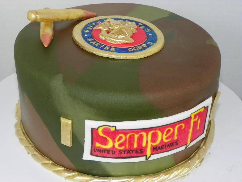 Plumeria Cake Studio Usmc Camouflage Cake