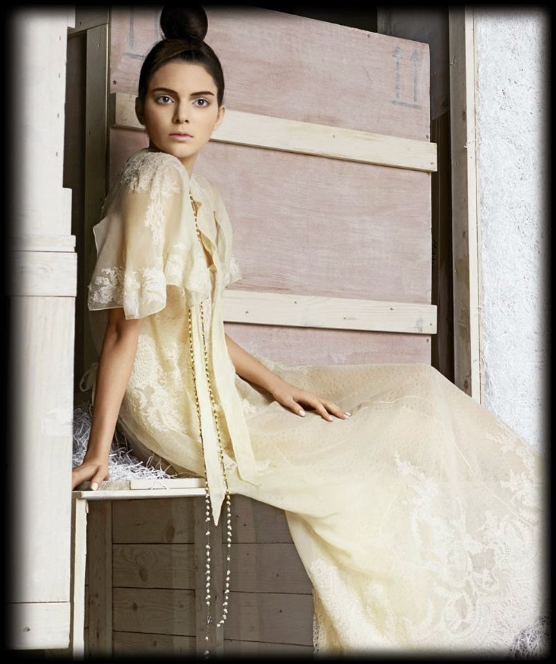 Kendall Jenner Karl Lagerfeld by for Harper's Bazaar US fashion photography