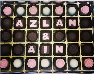 put your name 35pcs chocolate praline
