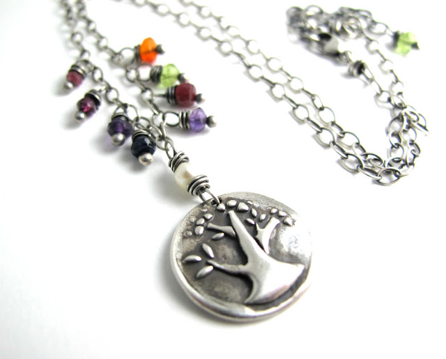 tree of life nature necklace charm jewelry