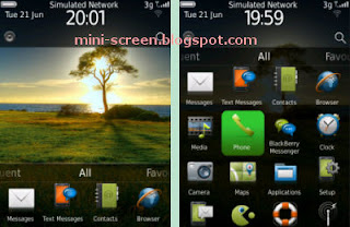Green Tree on Bank Free Theme Interface on BB Torch 9800