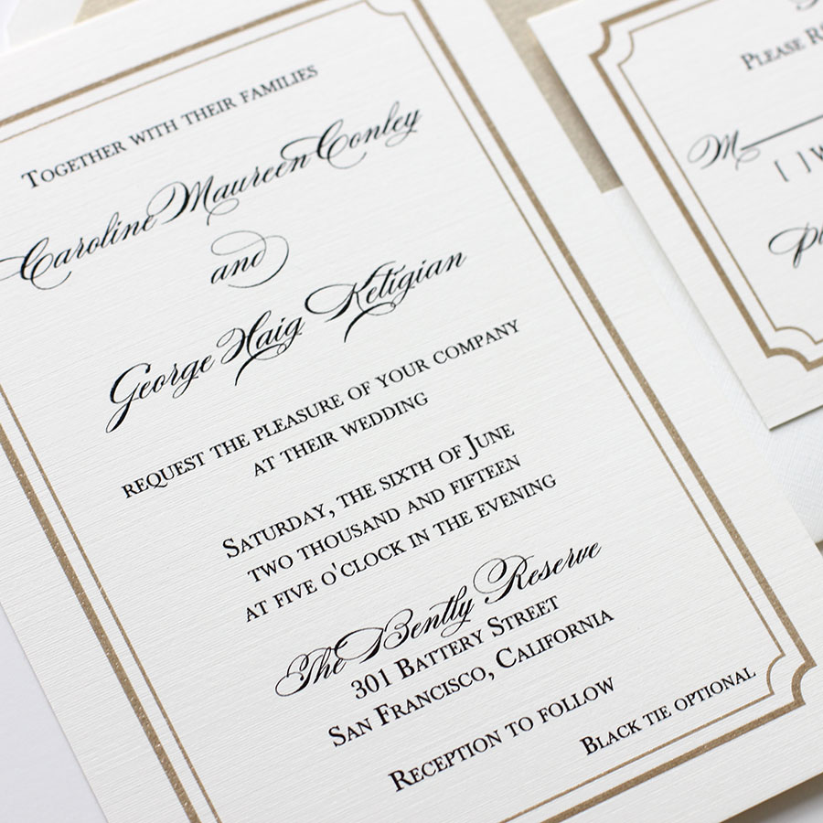 New Design: Classic Glam Wedding Invitations | Blush Paperie