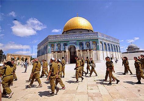 Soldados israelenses invadem Esplanada das Mesquitas