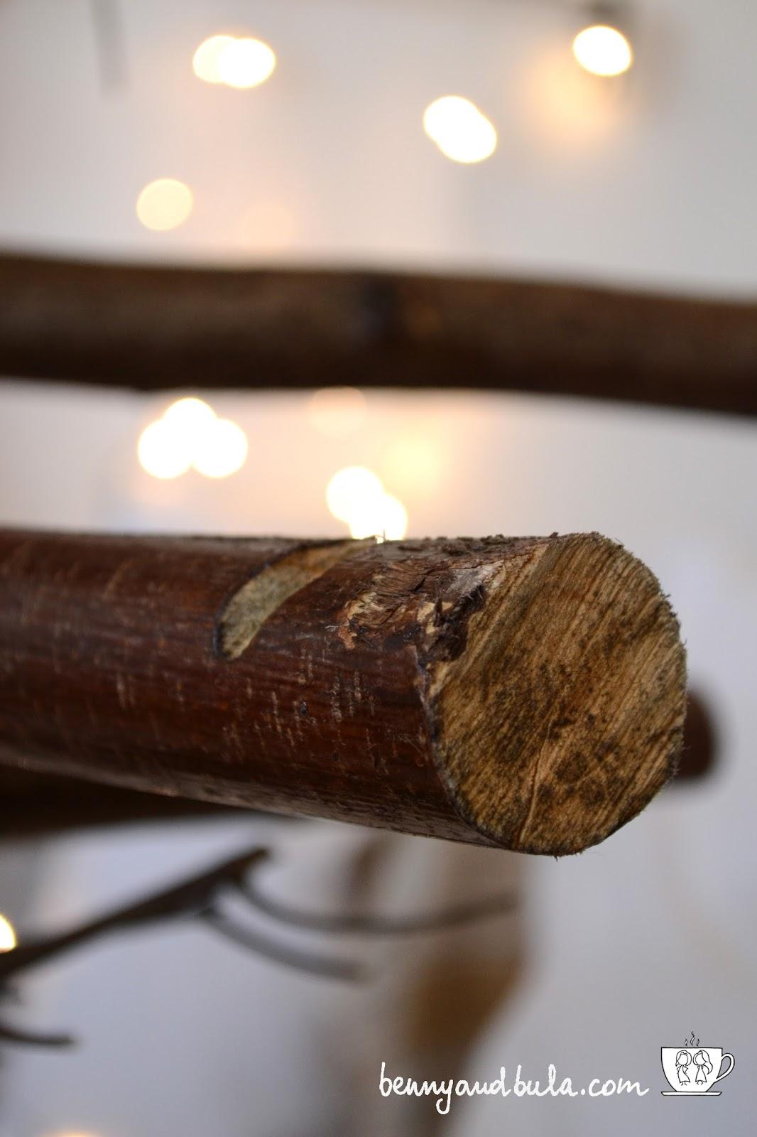 Tutorial Albero di Natale 2015 di legno con rami veri/Branches or Drift Wood Scandinavian Christmas Tree