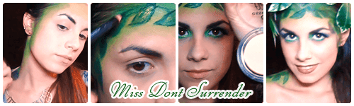 Maquillaje hada de los bosques por Miss Dont surrender collage