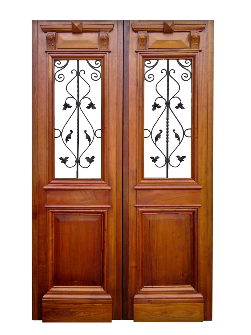 Atelier carpinter a puertas de entrada 2 hojas for Puertas antiguas de madera de 2 hojas