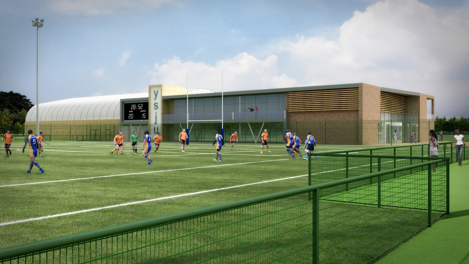 A youth association has applied for planning permission to build a new sports centre at ilkleys warehouse youth