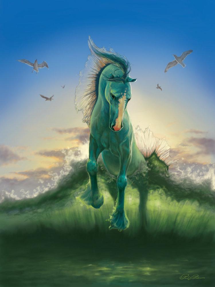 Mythical water horses - photo#17