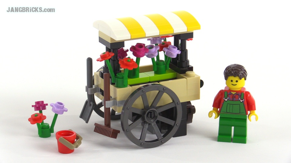 Lego Creator Flower Cart Polybag Review Set 40140