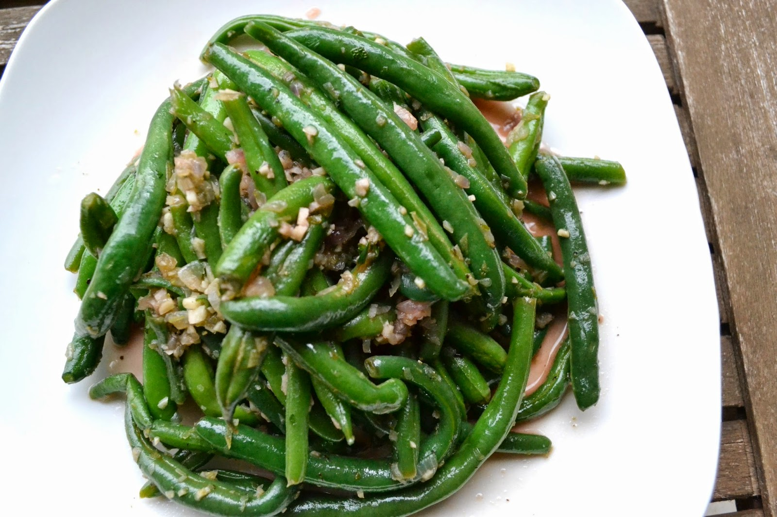 mint lime green beans