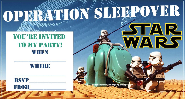 boys sleepover party invitations