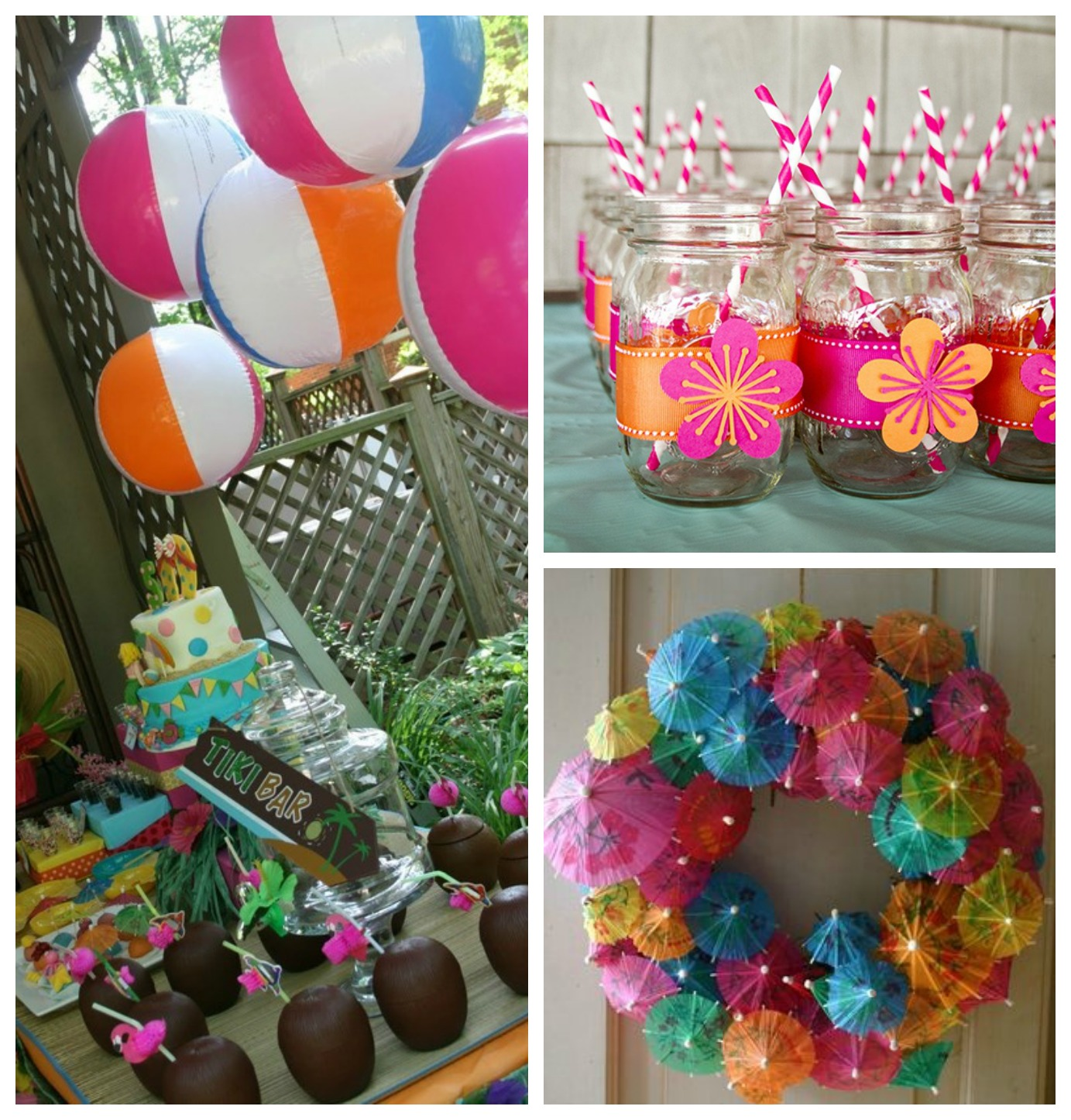 Small Town Life: Lauren's Bridal Shower Inspiration: Tropical Flair