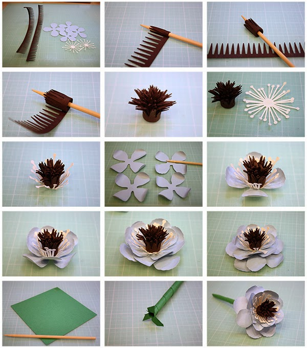how to make material flowers