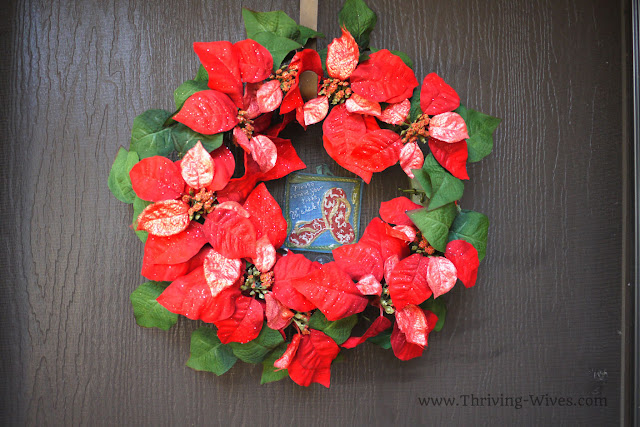 holiday decorating on a budget door wreath