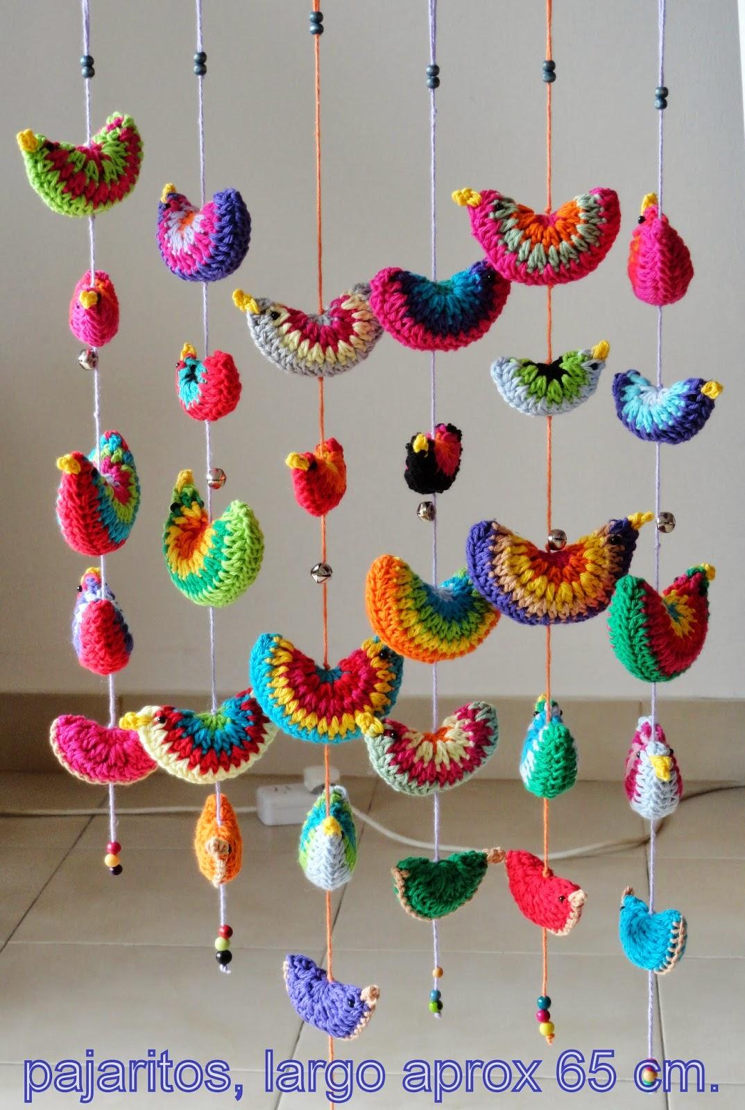 Amigurumis en un click m viles colgantes for Decoracion del hogar con crochet