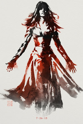 The Wolverine Sumi-e Character Movie Posters - Famke Janssen as Jean Grey