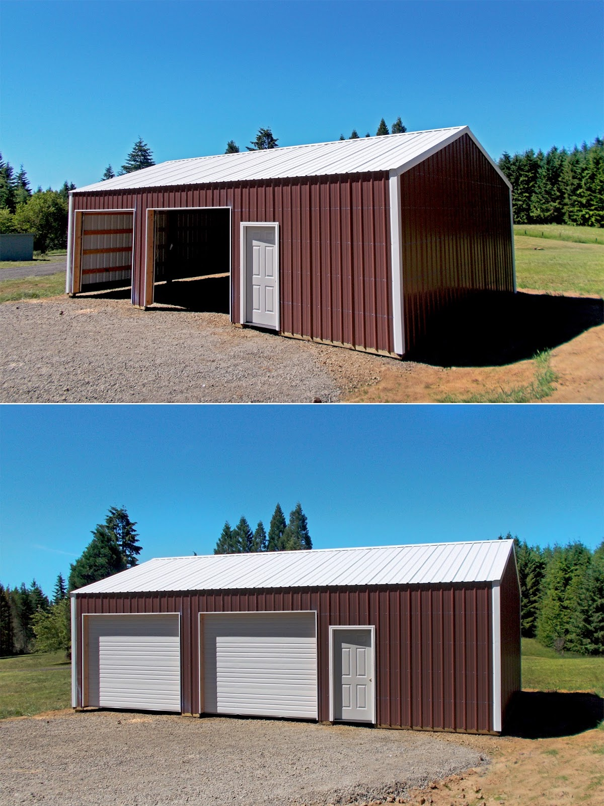 24 39 x 36 39 x 10 39 pole building with 10 39 x 8 39 commercial for 24x36 pole building