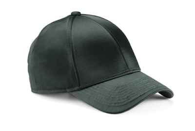 Acne Camp Satin Dark Grey Baseball Hat