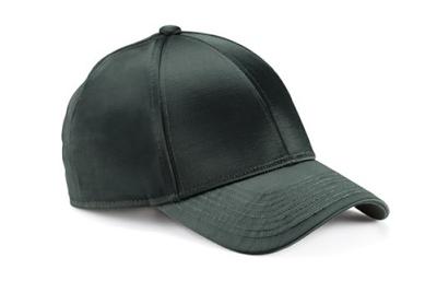 Acne Camp Satin Dark Grey Baseball Hat