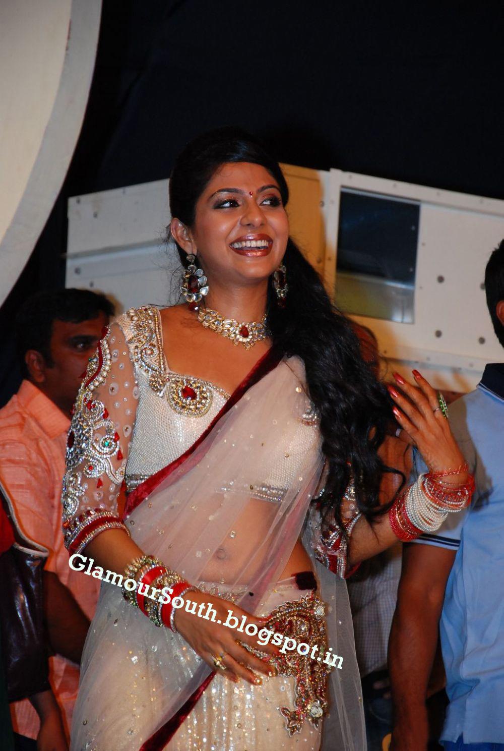 Poornima Indrajith In White Saree